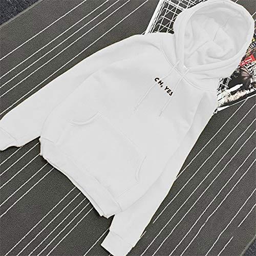 YDMZMS merk herfst winter brief Harajuku Print trui dikke losse vrouwen hoodies sweatshirt vrouwelijke mantel casual XXL wit