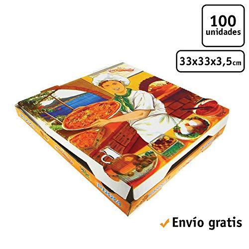 100 uds - Caja para pizza diseño