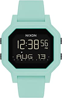 Siren A1311-100m Water Resistant Women's Digital Sport Watch (38mm Watch Face, 18mm-16mm Pu/Rubber/Silicone Band) - Made with #Tide Recycled Ocean Plastics