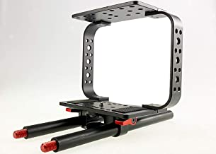 ePhotoInc Camera Cage for Black Magic Video Movie Camera Follow Focus BMC