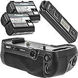 Meike Empuñadura de batería Empuñadura de batería battery grip para Nikon D850 sustituye a Nikon MB-D18 (Incluye 2 pilas EN-EL15 + Disparador Remoto hasta 100 m de alcance – MK-D850 Pro