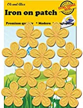 Iron On Patches - Yellow Flower Patch 10 pcs Iron On Patch Embroidered Applique