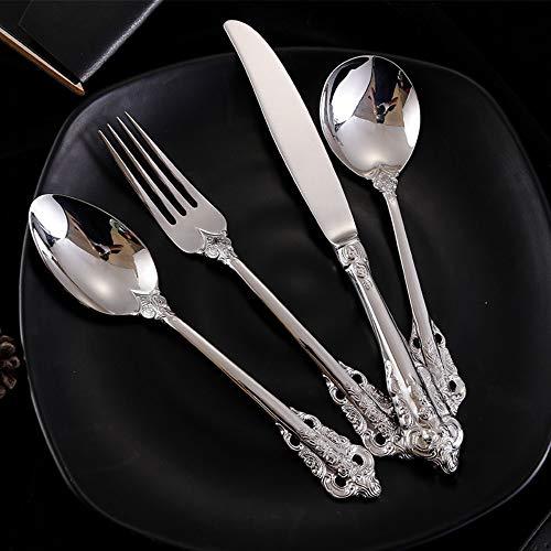 Set di posate di lusso misto a 4 pezzi. Coltello forchetta per cucchiaio forchetta insalata barocca Original Sealed Silver 69