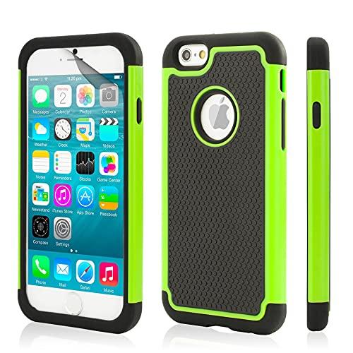 32nd Shockproof Series - Custodia Ibrida Anti-Urti per Apple iPhone 6 & 6S Massima Protezione da Cadute e Urti Protettiva Case Cover - Verde