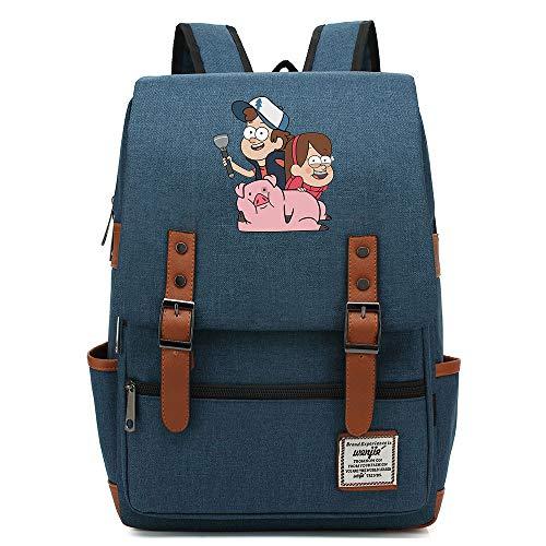 Mochila Escolar Anime Gravity Falls, Hombres Mujeres Niños Acampar al Aire Libre Senderismo Mochila de Viaje, Mochila para portátil de 15 Pulgadas Mochila de 16 Pulgadas. Color-21.