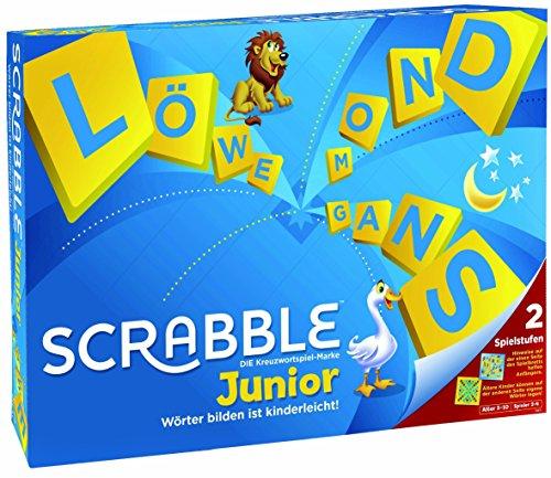 Mattel Games Y9670 - Scrabble Junior Wörterspiel und Kinderspiel, Kinderspiele Brettspiele geeignet für 2 - 4 Kinder ab 6 Jahren