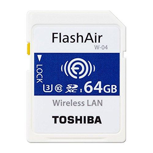 東芝 TOSHIBA W-04 FlashAir Wi-Fi SDXCカード 64GB UHS-1 U3 Class10対応 日本製 [並行輸入品]