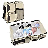 Techsun Mart Portable Multifunctional Baby Travel Bed Cot Cum Folding Mummy Diaper Bag