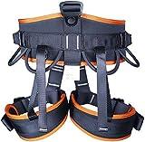 ZWWZ Klettergurt, Gurtzeug kompletten Rebschnitt for Kletterbergsteigerausrüstung Schutz Größe Größe: 75cm-130cm, orange HAIKE