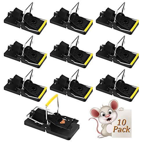 Zorara Mäusefalle, 10er Set Professionelle Rattenfalle Wiederverwendbar Wirksam Rattenfalle Schlagfalle, Einfaches Aufstellen Mäusemörder Mäusefalle für Haus