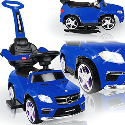 Kinder Mercedes Benz AMG Rutschauto mit Wippfunktion und MP3 Player (offiziell lizenziert) mit AKKU / Fahrzeug Rutscher Auto (BLAU)