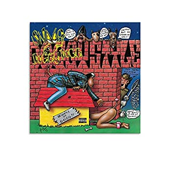 XCV Snoop Dogg Doggystyle Art Music Canvas Wall Art Prints Poster Gifts Photo Picture Painting Posters Room Decor Home Decorative 16×16inch 40×40cm