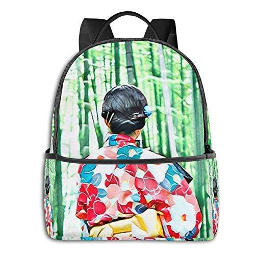 Kimono japonés, mochila escolar retro japonesa para estudiantes, escuela, ciclismo, ocio, viajes