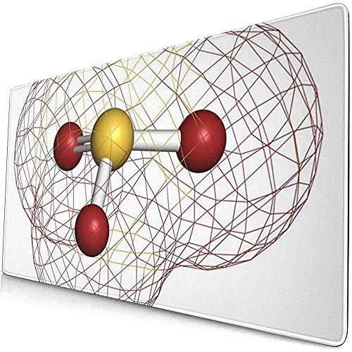 Gaming Extended Mouse Pads mit rutschfesten Sulfitanionen auf Kautschukbasis Chemische Struktur Salze sind übliche Lebensmittelzusatzstoffe 30X80 cm