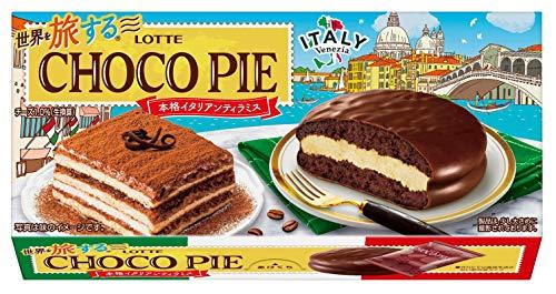 ロッテ 世界を旅する(R) チョコパイ(本格イタリアンティラミス) 1箱(6個) ×5箱