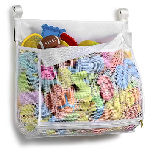 Tenrai Clever Zippered Mesh Bath Toy Organizer, Multiple Ways to Hang,...