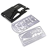 Buspoll Survival Card Tool (3 Tool Pack) EDC Wallet Multifunctional Survival Tool for Camping, Hunting and Fishing Trip Tools