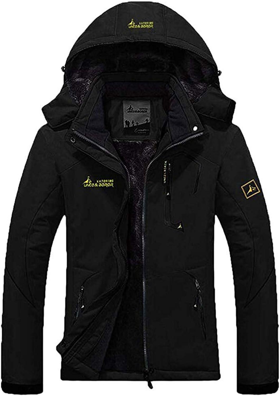 AbelWay Women's Outdoor Mountain Waterproof Windproof Fleece Ski Hooded Jacket Rain Coat OffWhite