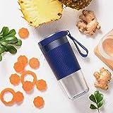 WHSS Exprimidor portátil para el hogar, taza de zumo de frutas eléctrica, mini máquina de alimentos portátil (color: azul)