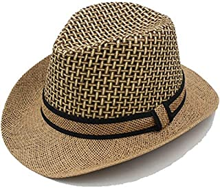 GoQuik Middle-Aged Hat Male Summer Outdoor Leisure Visor Hat Big Breathable Jazz Hat Summer Cool Hat (Color : Khaki)