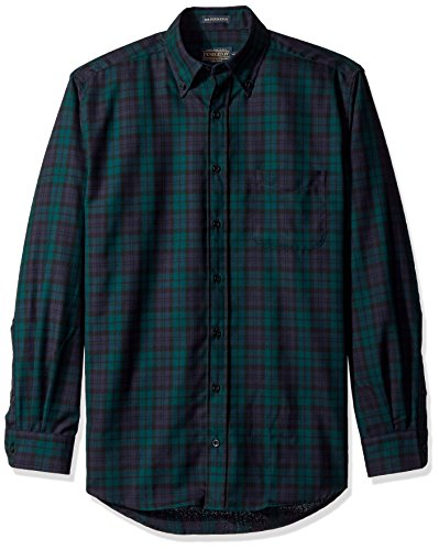 Big Sale Pendleton Men's Sir Pendleton Classic Fit Button Down Shirt, Black Watch Tartan,XX-Large