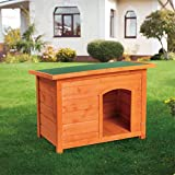 Aoxun Dog House, Outdoor Pet House Shelter Waterproof Wooden Log Cabin with Door for Pet Dog, Medium Size(3 Size)