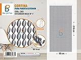 BAI PIN HUI Cortina para Puerta Exterior (Gris&Blanco)