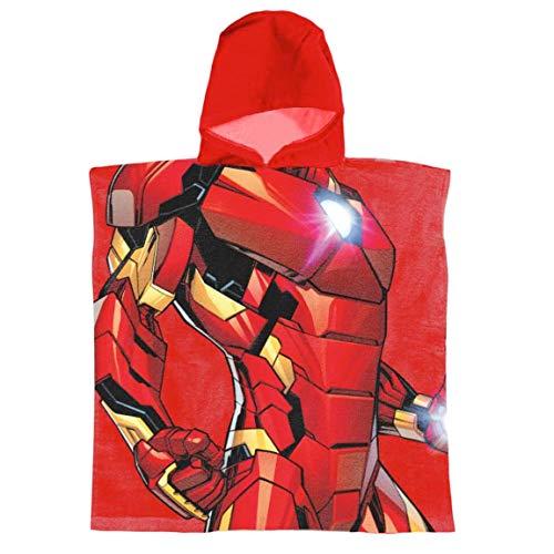 Super Heroes Marvel Avengers - Bademäntel für Jungen - 22-387X [Rot Iron Man - One Size]