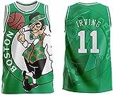 TGSCX Camiseta de Baloncesto de los Hombres NBA Boston Celtics 11# Kyrie Irving Cómodo/liviano/Transpirable Malla Bordada Swing Swing Sworkman Sweatshirt,XL