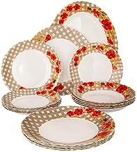 Arcopal 19 Pc Dinnerware Set | Combination Set with 1Pc Oval Plate(33cm) + 6PCs Dinner Plate(25cm) + 6PC Rice Plate(21cm)...