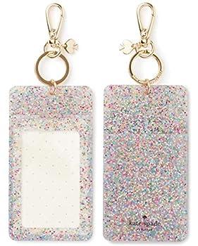 Kate Spade New York Id Badge Clip Key Chain Multi Glitter