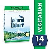 Natural Balance Vegetarian Formula Dry Dog Food, Brown Rice, Oat Groats, Barley & Peas, 14 Pounds, Vegan