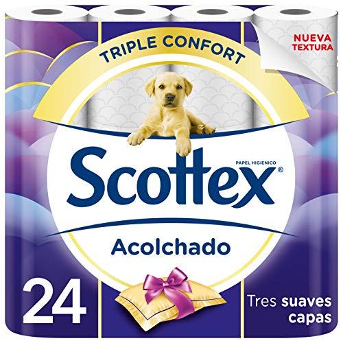 Scottex Acolchado Papel Higiénico - 24 rollos