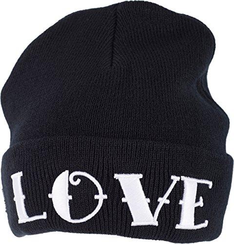 Iron Fist Unisex Mütze Love Hate Schwarz Unisex Mütze Love Hate 100% Acryl 100% Acryl One Size