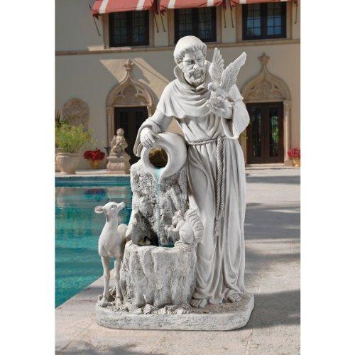 XoticBrands St. Francis Sculpture Water Garden Fountain