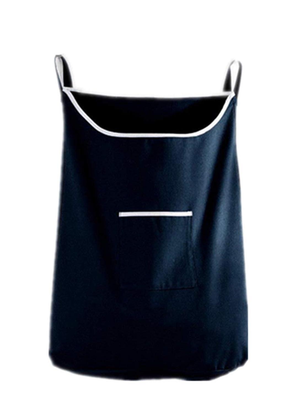 クリスチャン拡大するより多いChaopeng 家庭用収納ハンギングバッグ、ドアの後ろの汚れた服のポケット、携帯用の耐久性のある衣類収納バッグ、オックスフォードの布バッグ (Color : ブラック)