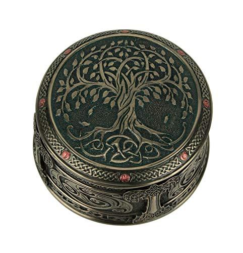 Veronese Design Schmuckkästchen Lebensbaum bronzefarben