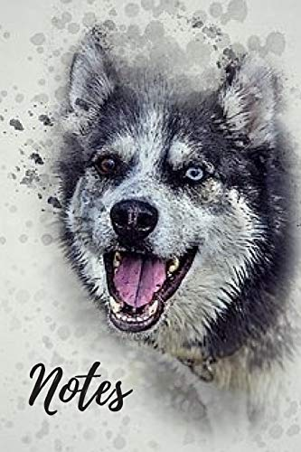 Husky Notebook: cute siberian huskies gift for animal and dog lovers (blank lined notebook) best for writing notes and ideas for home use, work or a ... / journal for journaling / husky journal