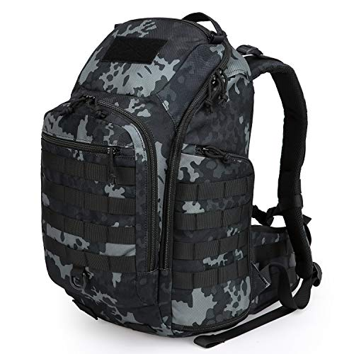 Mardingtop 30L Tactical Backpacks Molle Hiking daypacks for Camping Hiking Military Traveling Motorcycle (Camouflage)
