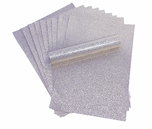 A4Papier Glitzer, silber Sparkly Soft Touch Fusselfreier Dick 150gsm Papier Pack 10Blatt