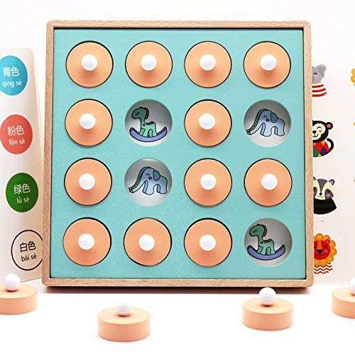 VIDOO Wooden Memory Chess Children's Teaching Aids Toys Logique Thinking Ability Improvement Puzzle Early Education