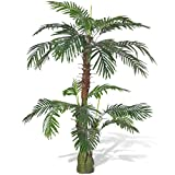 vidaXL Palmera Cycas Artificial con Aspecto Natural, 150 cm