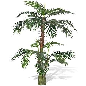 "Silk Flower Arrangements vidaXL 59"" Cycas Palm Artificial Plant Fake Tree Not Potted Home Patio Arrangerment"