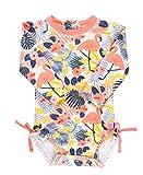 RuffleButts Baby/Toddler Girls Tropical Flamingo One Piece Rash Guard - 6-12m
