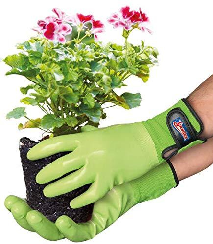 Spontex Garden, vielseitige Gartenhandschuhe für feuchte Gartenarbeiten, verstellbares Bündchen - 1 Paar, Gr. M