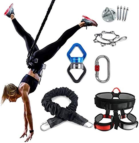 PANJAZE Cuerda bungee de yoga pesada, resistencia de la correa Cuerda de la cinta de la copa de la copa para hombres y mujeres, equipo de entrenamiento Equipo de equipo Gimnasia en casa, Longitud ajus