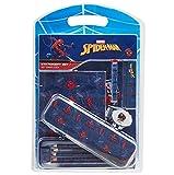 Spiderman Set Papeleria para Niños, Incluye Estuche Escolar Cuaderno A5 Bloc de Notas Lapices Colores Boligrafo, Regalos Cumpleaños Niños Colegio