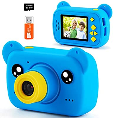 AILEHO Kids Camera Digital Video Camera for Kids Birthday Children Toys age3-9 Years Old Toddler Camera 8M 1080P with 8GB Card from AILEHO
