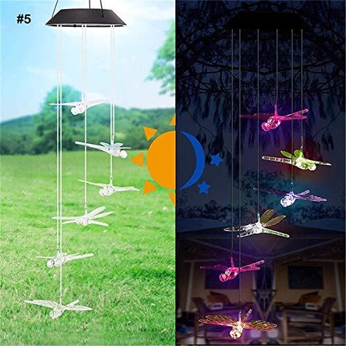 Solarbetriebenes LED Windspiel Licht Kreative Windglocke Hängende Anhänger Spinner Windspiel Outdoor Hausgarten Dekoratives Handwerk