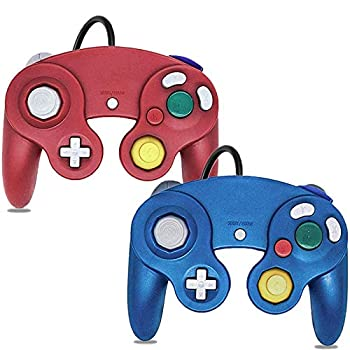 Gamecube Controller Classic Wired Controller for Wii Nintendo Gamecube  Blue & Red-2Pack